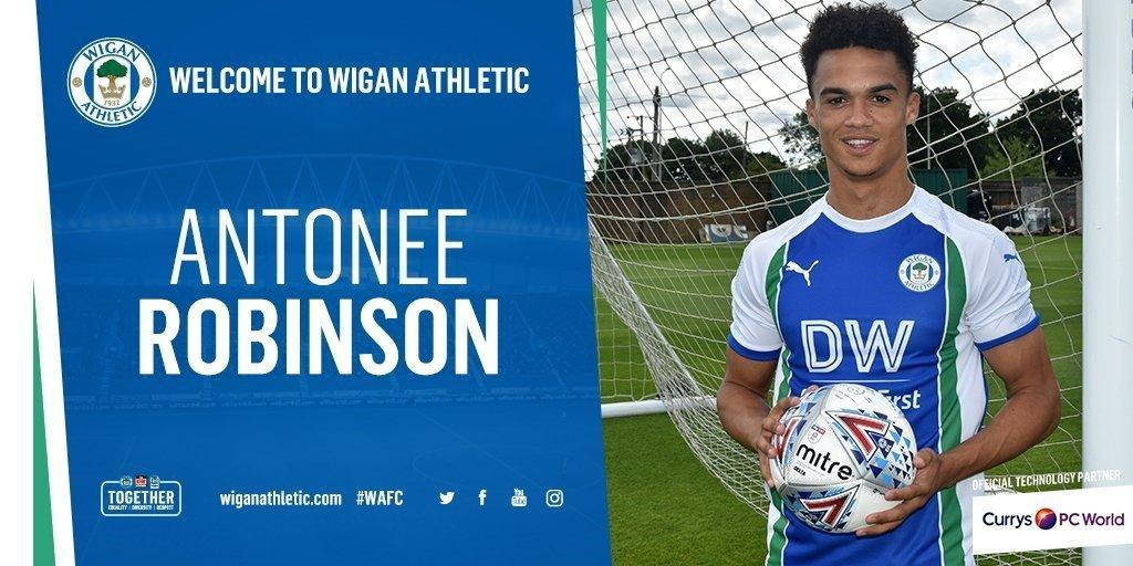 Wigan Athletic and USA Full Back Antonee Robinson